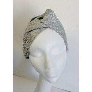 Grey Turban Hairband